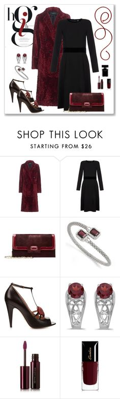 """""""Joseph Blazz Ruby Velvet Coat Look"""" by romaboots-1 ❤ liked on Polyvore featuring Joseph, Goat, Oscar de la Renta, Kevin Jewelers, Gucci, Allurez, Kevyn Aucoin, Guerlain and Narciso Rodriguez"""