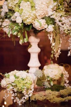ivory and green floral design by jordan payne events | jordanpayneevents.com