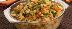 Cuscuz de frango e legumes