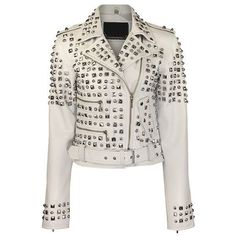 Handmade New Women's Silver Studded Leather Jacket All sizes available #Handmade #Motorcycle