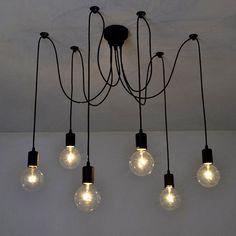 Modern Vintage DIY Chandelier Lights Ceiling Spider Pendant Industrial Light | eBay