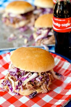 Crock Pot Coca-Cola Pulled Pork Sandwiches