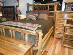 Call of the Wild Log Bed with Tile Scene