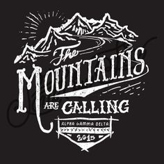 Sorority Social Alpha Gamma Delta Mountain Calling Chalk South By Sea