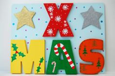 Paint or decorate your own wood, MDF XMAS wooden word.