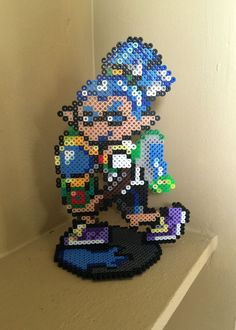 Splatoon Inspired 8 Bit Perler - Boy Inkling via eb.perler. Click on the image to see more!
