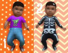 It's all about clutter, Baby Overrides: Set 6 - Medium Skin/Girl + Dark...