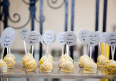 Cake Pop Escort Card - Wedding Colours, Wedding Themes, Wedding colour palettes