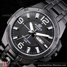 BUY Casio Edifice All Black Black Ion Plated Mens Watch EFR-104BK-1AV, EFR104BK - Buy Watches Online   CASIO Red Deer Watches