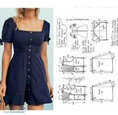 Design de mode, patron et couture - Lilly is Love Dress Sewing Patterns, Clothing Patterns, Embroidery Patterns, Hand Embroidery, Pattern Sewing, Diy Clothing, Sewing Clothes, Clothes Refashion, Fashion Sewing