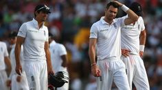 Alastair Cook and James Anderson struggle for answers, West Indies v England, 3rd Test, Bridgetown, 3rd day, May 3, 2015. WI squared the series 1-1, but England retained the Wisden trophy.