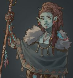 Half-Orc Druid with Bark Skin Spell Fantasy Character Design, Character Creation, Character Design Inspiration, Character Concept, Character Drawing, Dungeons And Dragons Characters, Dnd Characters, Fantasy Characters, Dnd Druid