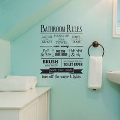 Most Wonderful Quotes Beach Bathroom Decor For… Bathroom Rules Wall Quotes Decal Wallquotes in ucwords] Bathroom Rules, Bathroom Wall Decals, Bathroom Sayings, Funny Bathroom, Wall Sayings, Wall Decals For Bedroom, Wall Vinyl, Teen Boy Bathroom, Bathroom Humour