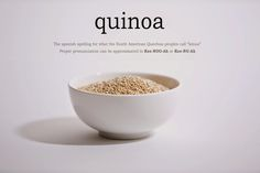 Gabrielle, this is a short post about how to pronounce quinoa. Very interesting.