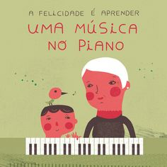 HAPPINESS IS TO LEARN A MUSIC ON THE PIANO, Illustrated by Yara Kono /Definition by Maria de Lurdes Mendes, 83