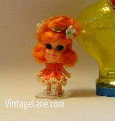 little kiddles dolls from the 1960s | Vtg Little Liddle Kiddle Doll Orange Blossom Kologne Mattel 1960s w ...