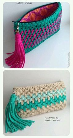 Ostaja, jossa on nahkaisen pohjapussin virkkaus - Artofit - AmigurumiHouse Crochet Clutch Bags, Crochet Wallet, Crochet Purse Patterns, Crochet Handbags, Crochet Purses, Crochet Stitches, Knit Crochet, Crochet Shell Stitch, Bobble Stitch