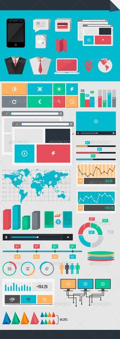 Infographic Elements with UI Set Components - Infographics