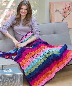 Rainbow View Throw - I'm a sucker for a rainbow. #free #crochet #pattern
