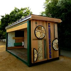 shipping container -- outside hang out/ raised garden!