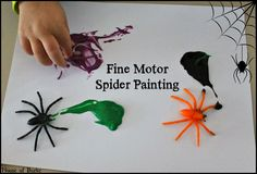 Fine Motor Spider Painting - House of Burke