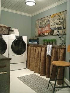 Small Laundry Room Ideas | Ideas for creating a beautiful laundry room focus on picking an ...