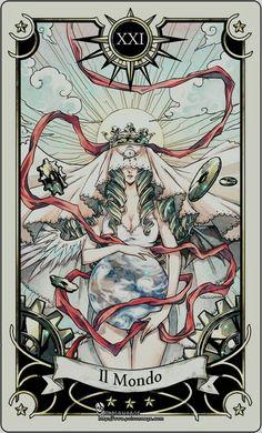 The World. Tarot. Major Arcana.