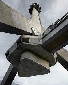 L'architecture brutaliste yougoslave celebree au MoMA Architecture Design, Architecture Antique, Concrete Architecture, Museum Architecture, Futuristic Architecture, Amazing Architecture, Contemporary Architecture, Chinese Architecture, Architecture Office