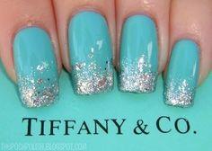 Tiffany nails / Essie Turquoise & Caicos