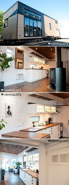 Tiny House Living: This modern tiny house, Chene by Minimaliste, incl...