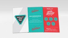 Hoda Mahmoodzadegan's Molly's Milk Truck business cards, as see on The Dieline!