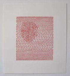 amo os trabalhos de Emily Barletta. Bordado sobre papel.