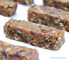 I am all for a crispy, crunchy granola bar, but sometimes a woman needs something fudgy. And since one of my favorite forms of fudge is peanut butter, why not make a power bar with a creamy, fudgy, peanut buttery texture and flavor?Why not, indeed!I am the person who like all ...