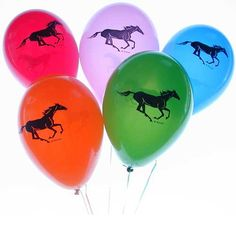 horse party, birthday party, kids party, horse gift, horse themed party supplies - Party Supplies: 10 Frolicking Horse Balloons: 1 Pack of 10 balloons