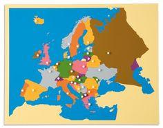 Inlegkaart Europa