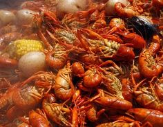 Most recipes for crawfish boils make huge amounts. Here's one from Zatarain's that's good for the indoor kitchen.