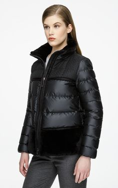 Fur-Trimmed Down Jacket|Escada | ESCADA.com