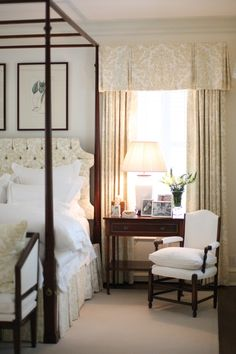 Country English Bedroom with both masculine and feminine appeal ...