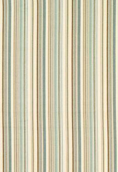 Fabric | Malibu Stripe in Aqua | Schumacher