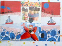 Handmade collage card for Malah's 5th birthday, 2015.