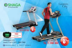 Get special price and 0% installment for Treadmill equipment at SHAGA Active and Wellness Gandaria City 2nd Floor!
