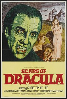 Scars of Dracula (1970) GB Hammer / EMI Horror. Christopher Lee, Dennis Waterman, Jenny Hanley, Christopher Matthews, Patrick Troughton. 28/05/03