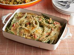Green Bean Casserole Recipe   Ree Drummond   Food Network Best Thanksgiving Recipes, Thanksgiving Side Dishes, Easter Recipes, Christmas Recipes, Thanksgiving Feast, Holiday Meals, Holiday Dinner, Holiday Recipes, Greenbean Casserole Recipe