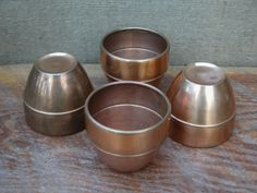Mid Century Chase USA Copper Cups With Centaur by RedoneAndVintage, $28.00