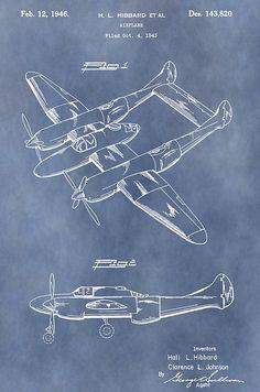 Biplane Patent Print