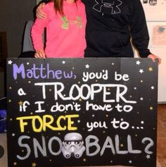Proposal Ideas boyfriends How to ask a guy to prom, snoball, etc. Star Wars themed :) How to ask a guy to prom, snoball, etc. Cute Homecoming Proposals, Formal Proposals, Hoco Proposals, Girl Ask Guy, Girls Ask, Dance Proposal, Proposal Ideas, Starwars, Sadies Dance