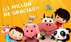 Hemos superado el millón de suscriptores en nuestro canal de Youtube en español. ¡Muchas gracias!