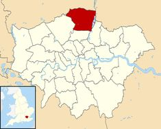 London Borough of Enfield - Wikipedia London Boroughs, Greater London, Map, England, Heart, Filing Cabinets, Location Map, Maps, English
