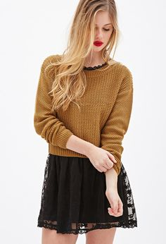 Chunky Knit Boxy Sweater | Forever 21 - 2000080941