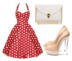 """""""Untitled #2401"""" by evalentina92 ❤ liked on Polyvore featuring Casadei and vintage"""